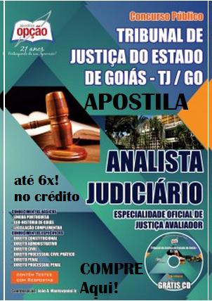 Apostila TJGO Oficial de Justica Avaliador - Analista Judiciario