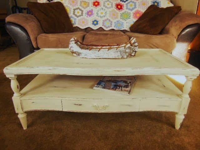 josie's attic: annie sloan chalk paint old ochre coffee table redo.