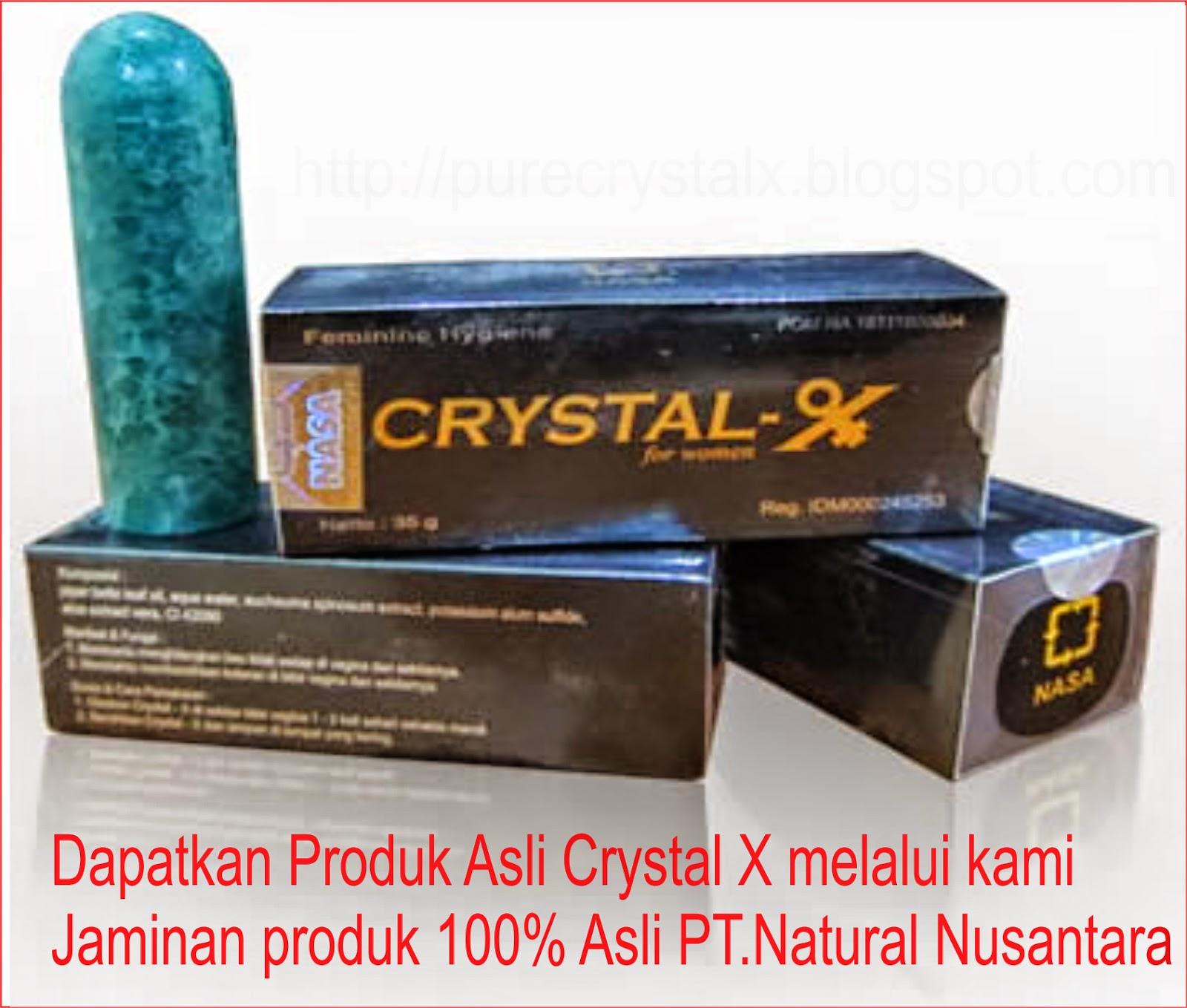 Ciri ciri crystal x asli