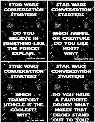 Star Wars Conversation Starters Dinner, Party, Date