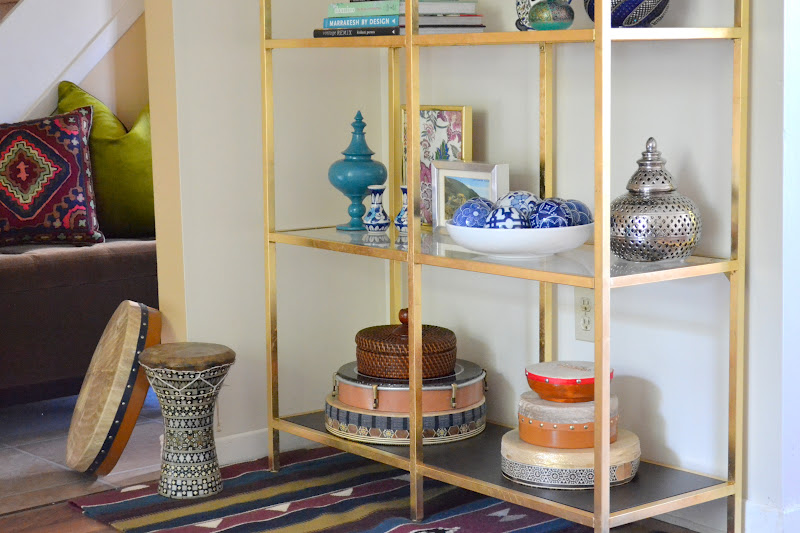 Honey sweet home diy brass etagere gold leafed ikea vittsjo hack - Etagere 4 cases ikea ...