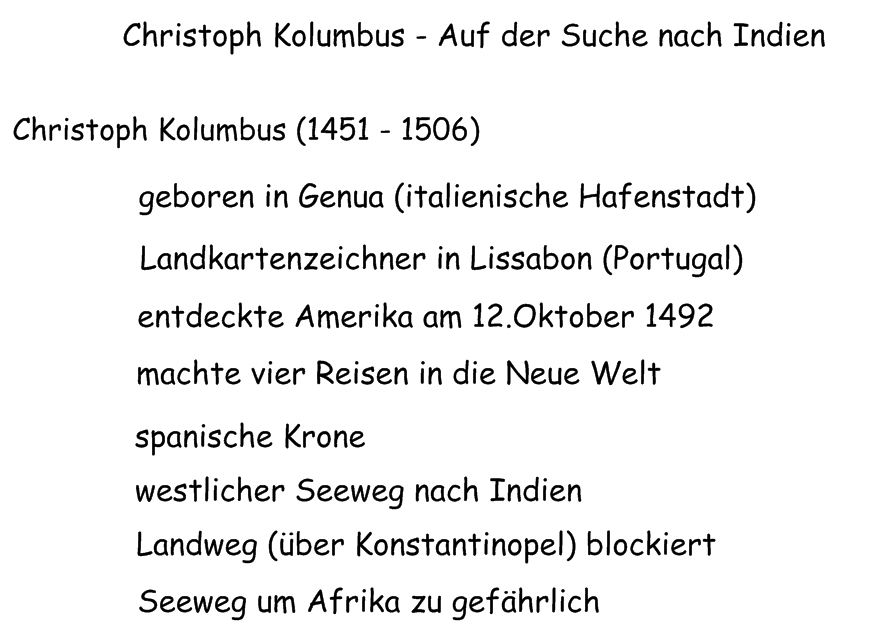 Informieren - aber wie?: 04 Wie war das mit Kolumbus?