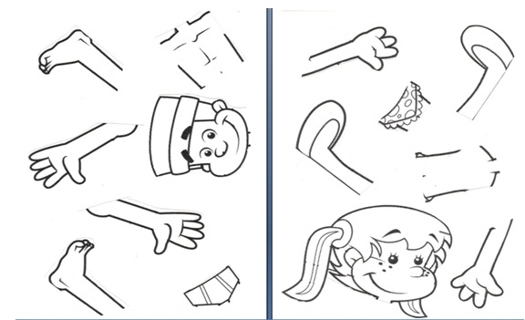 Partes del cuerpo humano para recortar y armar - Imagui - Imagui