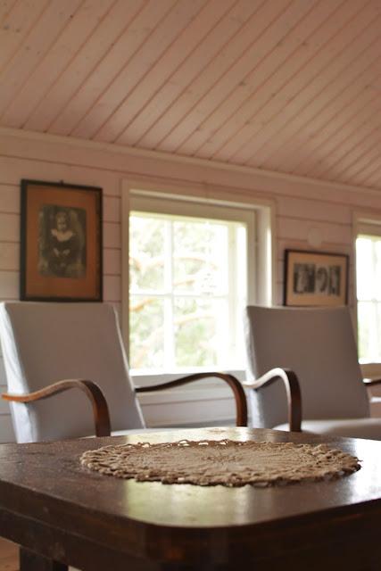 Muonamiehen mökki - Tanskalaistyylinen makuuhuone