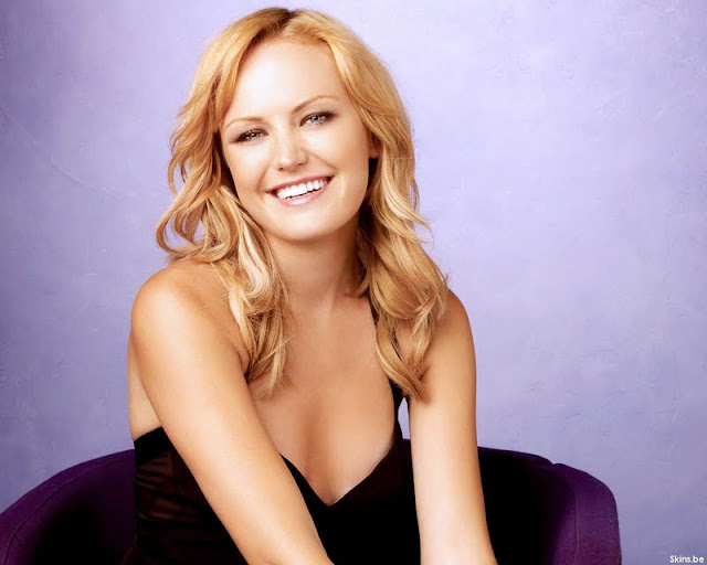 Malin Akerman sexy in black dress