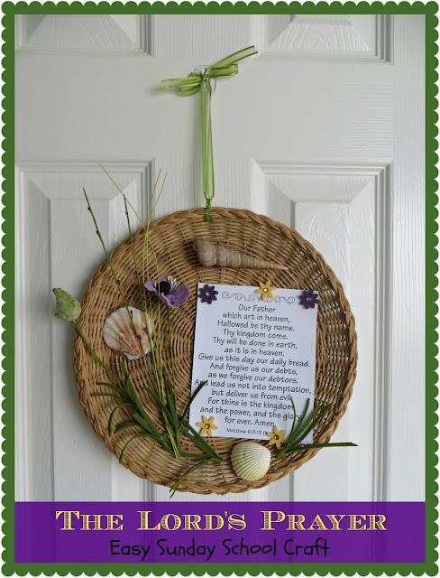 http://www.craftyincrosby.com/2013/06/the-lords-prayer-easy-sunday-school.html