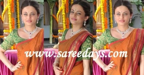 Latest saree designs sneha ullal in mustard traditional silk saree altavistaventures Images