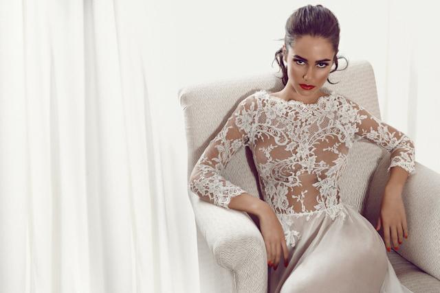 maquillaje peinados novias ideas recogidos eyeliner elegante delicado oui novias actriz alicia sanz