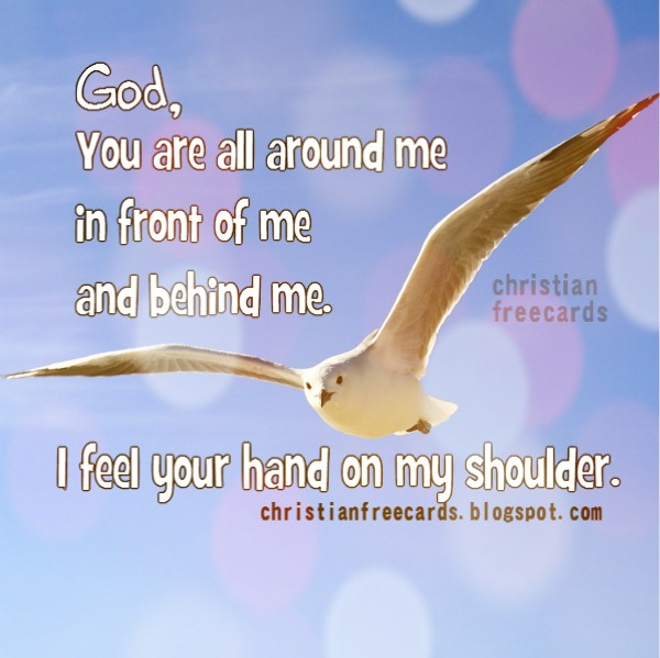 Thank you God, The Lord is with me, free christian quotes, bible verses, free christian image, thanksgiving