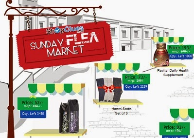 Shopclues Sunday Flea Market Deals 30th April 2017