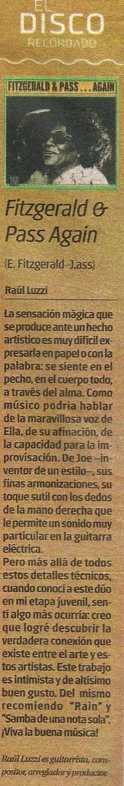 Raúl Luzzi (columna Tiempo Argentino)