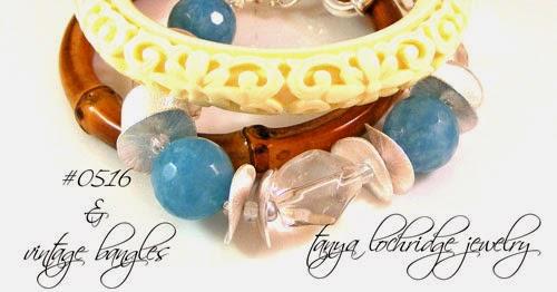 Angelite & Crystal Quartz Gemstone Bracelet