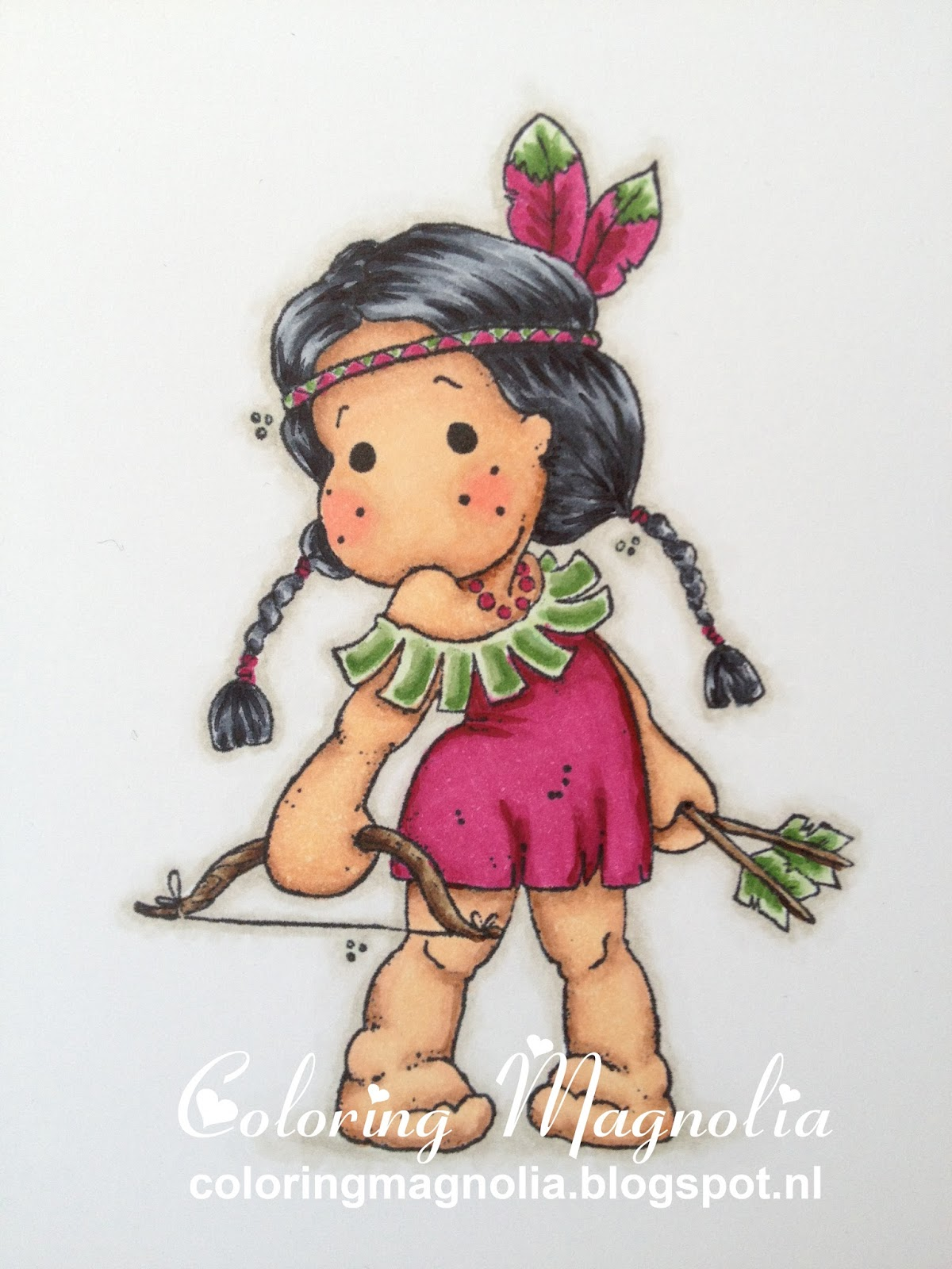 Coloring Magnolia Stamp 2013 Once Upon A Time Collection - Indian Tilda