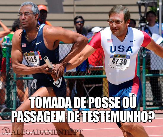 Imagem de Pedro Passos Coelho a passar o testemunho a António Costa - Tomada de Posse ou Passagem de Testemunho?
