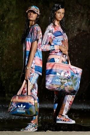 Farm e Adidas Originals terceira coleção roupas esportiva acessórios bolsa sacola boné e tênis