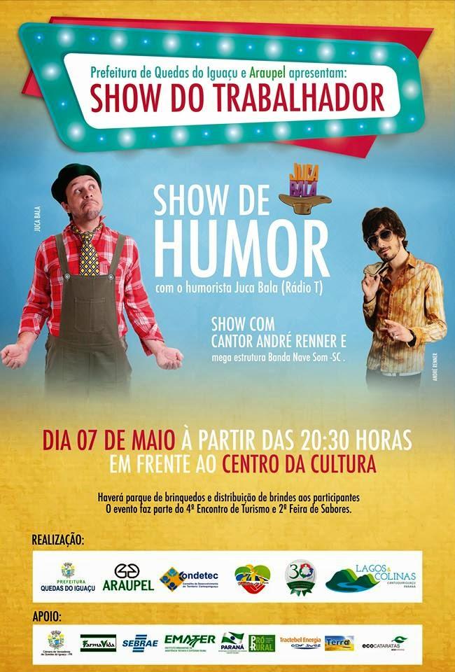 Quedas do Iguaçu:Show do trabalhador gratuito e 4º encontro do turismo da Cantu, evento terá 3 dias