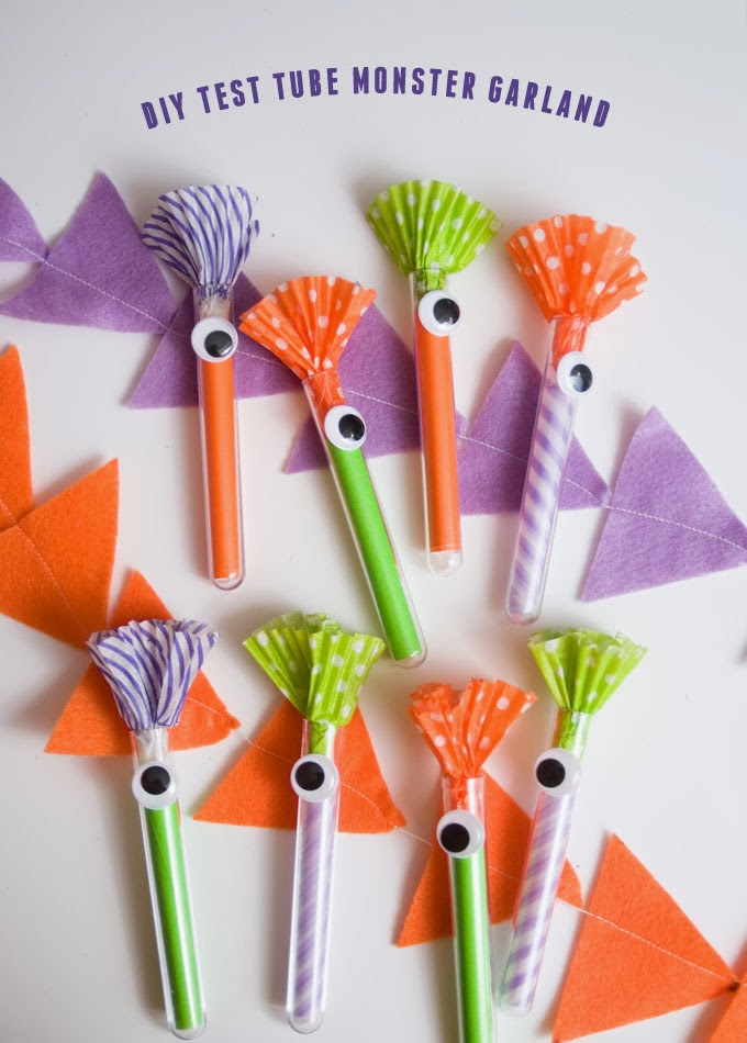 20 crafty days of halloween monster test tube garland for Test tubes for crafts