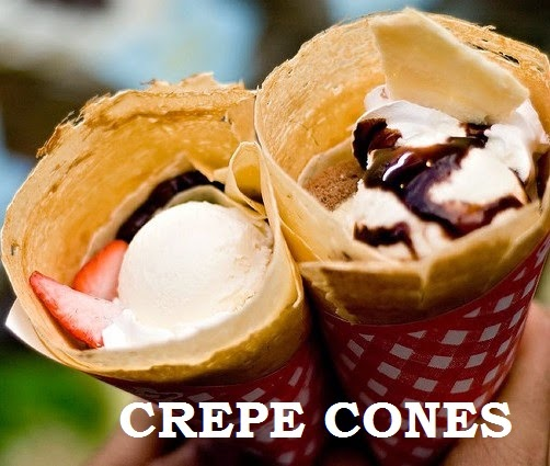 crepe cones