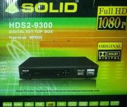 Solid HDS2-9300 DVB-S2 / MPEG-4 Satellite IR (Receiver)