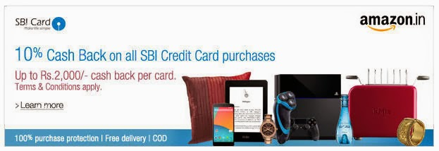 10% SBI Cashback @Amazon