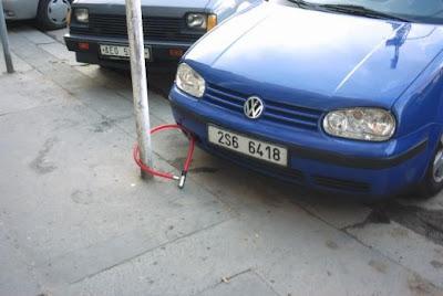 funny car, golf locked