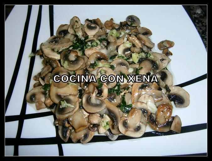 Cocina con xena champi n en salsa verde en gm d for Cocina con xena olla gm d
