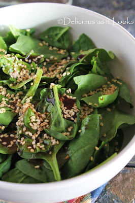 Toasted Sesame Spinach Salad
