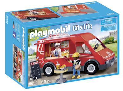 TOYS : JUGUETES - PLAYMOBIL : City Life  5632 Camión de Comida | Food Truck  Producto Oficial | Piezas: 69 | Edad: 4-10 años  Comprar en Amazon España
