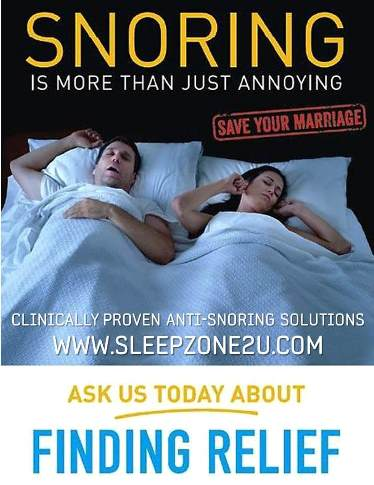 Don't let snoring ruin your relationship or a good sleep!