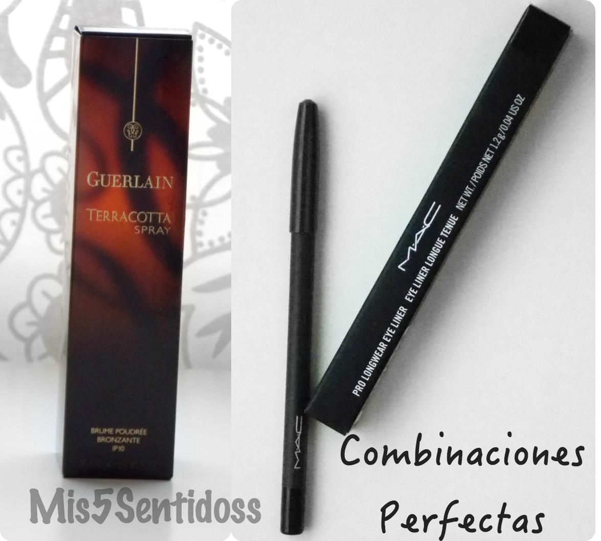 Guerlain Terracota Spray + Mac Pro Longwear Eyeliner