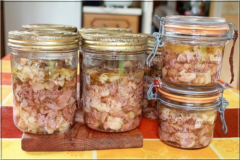 la table lorraine d amelie fromage de t 202 te de porc fermier au riesling conserves de fromage