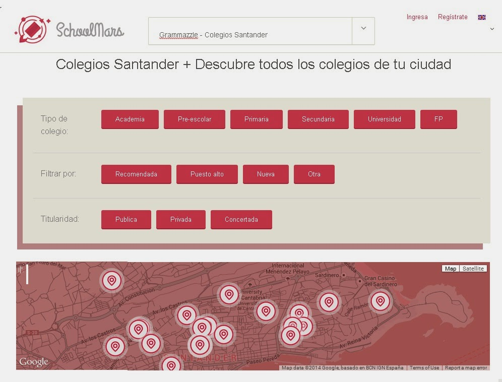 Grammazzle colegio mejor best school Comparando SchoolMars Santander España