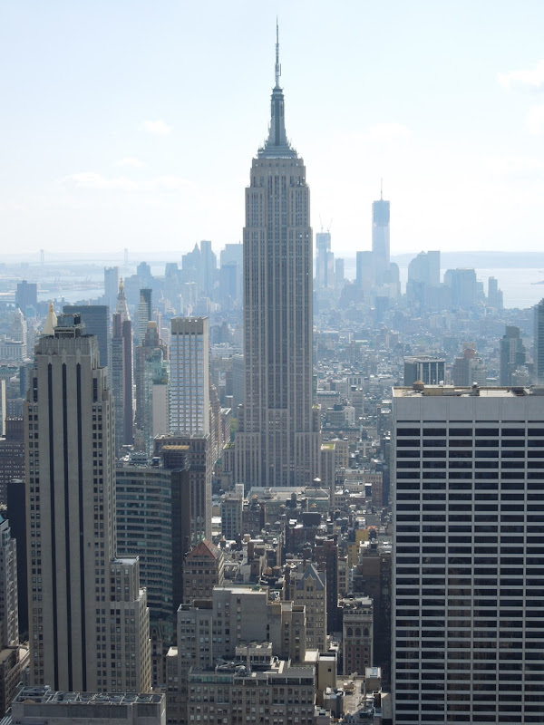Rockefeller Center Empire State Building view