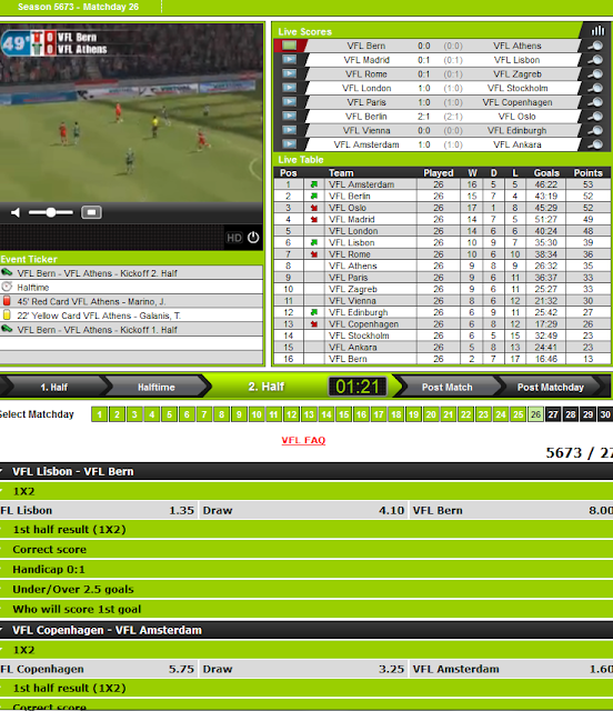 virtual football betting system