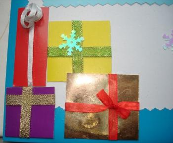 Como hacer una tarjeta de navidad f cil y bonita - Postales navidad faciles de hacer ...