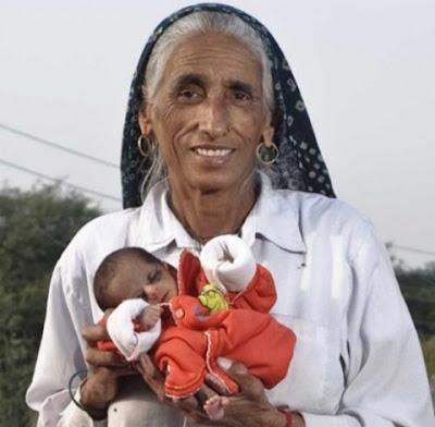 Ibu Tertua Untuk Kelahiran Pertama (70 tahun)