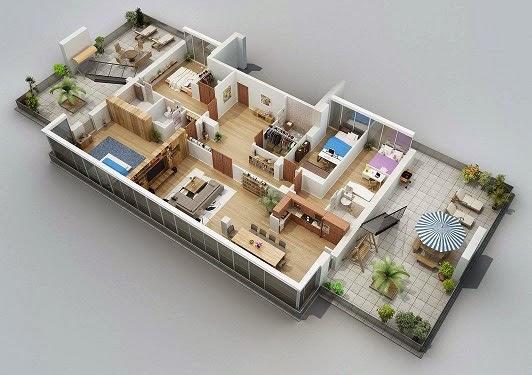 5 Desain Rumah Minimalis Sederhana 1 Lantai 3 Kamar Tidur