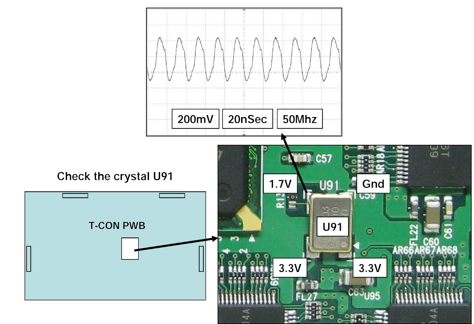 lg 47lg90 led lcd tv t con board voltage check fuse Vizio T-Con Board Sony BRAVIA T-Con Board