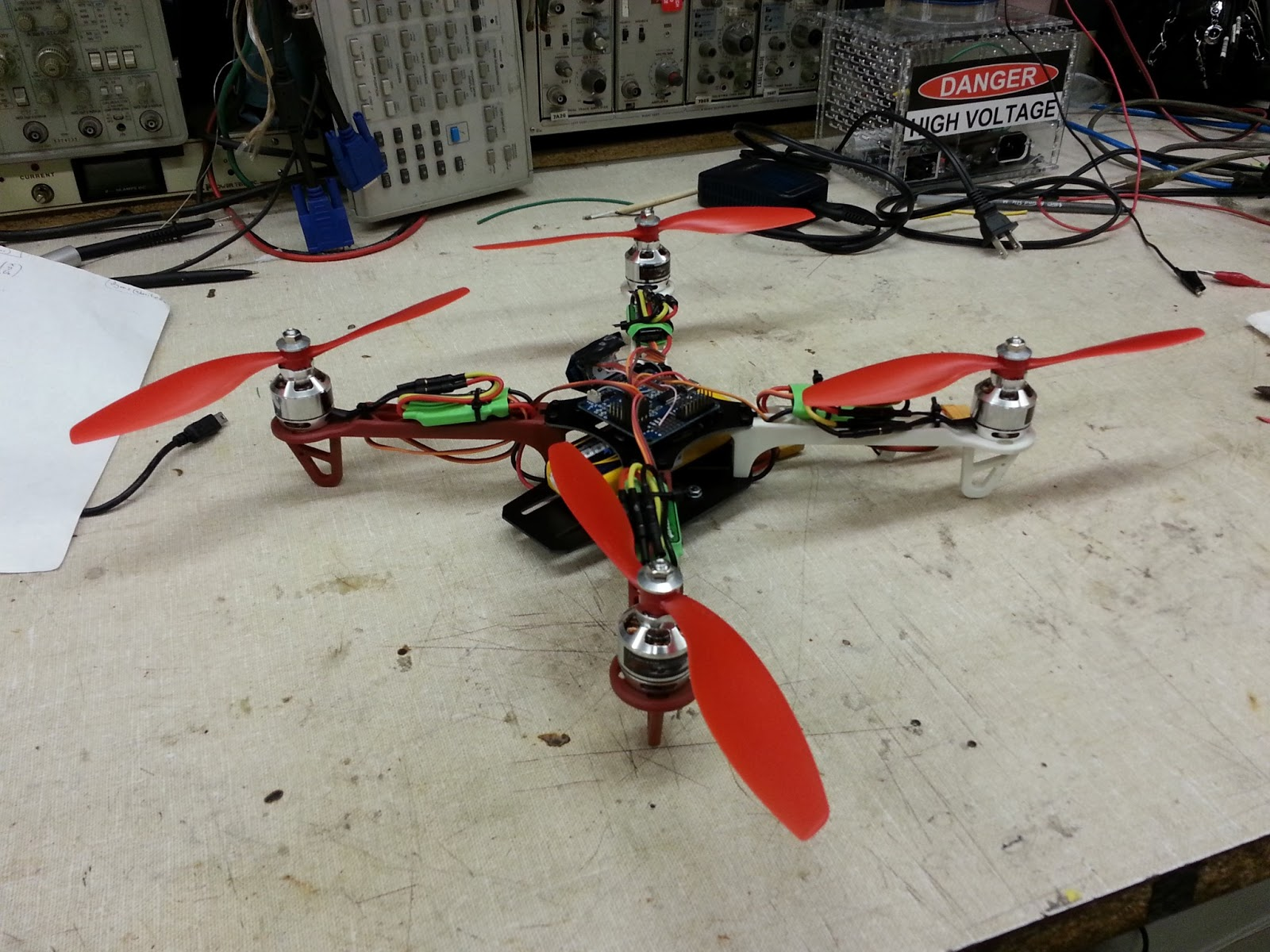 Yameb my first quadrotor parts selection and build