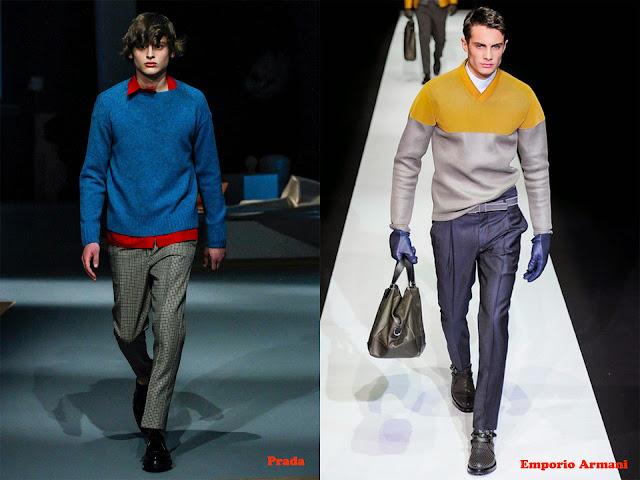 Tendencia otoño_invierno 2013-14 color block: Prada y Emporio Armani