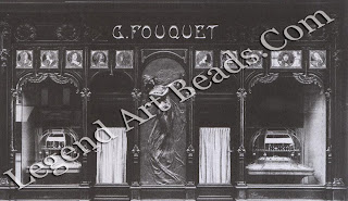 A photograph of the Fouquet shop in the Rue Royale winch was designed for the firm by Alphonse Mucha.