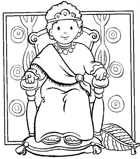 Desenhos b blicos para colorir pintar imprimir vii for King david coloring pages free