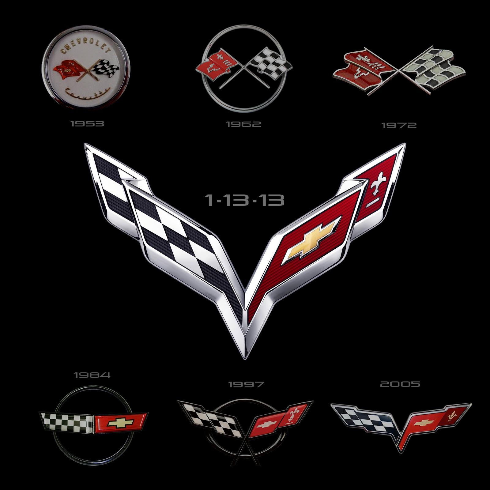 2014 Chevrolet Corvette C7   Nouveau Logo  Pr U00e9sent U00e9e  U00e0 D U00e9troit