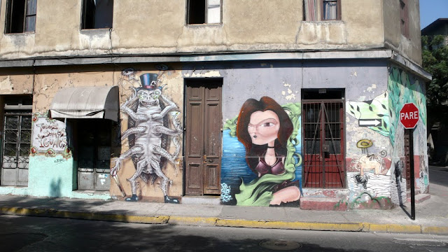street art santiago de chile barrio yungay barrio brasil arte callejero