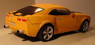 Car Bumblebee Camaro Papercraft