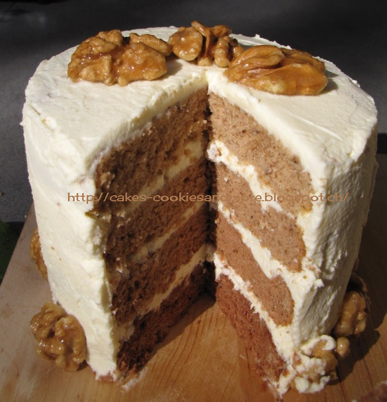 Maple-Walnut Espresso Torte Recipe — Dishmaps