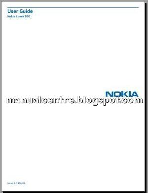 Nokia Lumia 920 Manual Cover