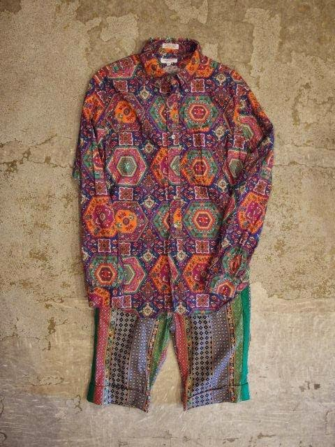 Engineered Garments Tux Short in Multicolored Foulard Hippie Stripe Spring/Summer 2014 SUNRISE MARKET