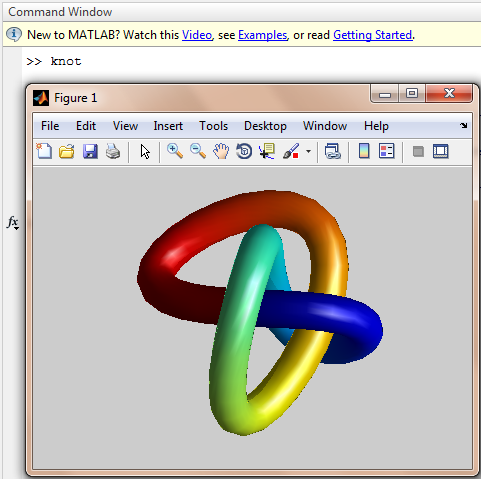 "matlab ""knot"" command"