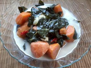 Masak Lemak Sayur Asin-asin dan Ubi Keledek